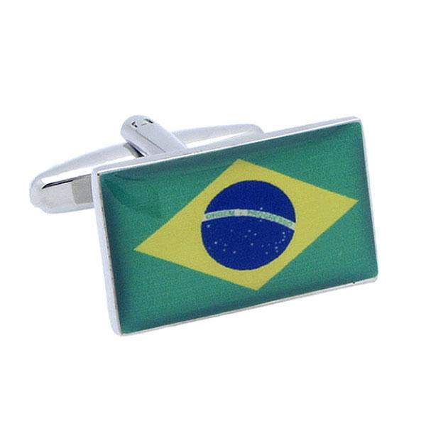 브라질 국기 커프스